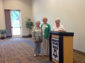 Sue Mengert, Cherrie Wheaton, and Mary Fran Schickedantz at NC Women Matter