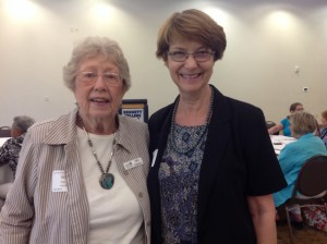 Mary Peterson, AAUW state President and Laura Tew