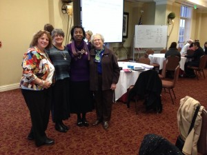 Greensboro Branch Members Leona La Perriere, Beth Walker, Monica Johnson, and Sue Mengert