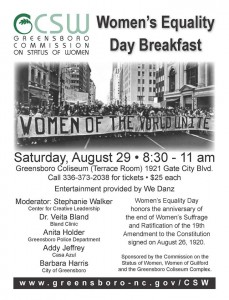Women's Equality Day 2015